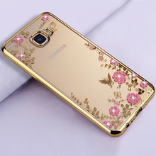 luxury diamond Transparent soft tpu original back phone cases,coque,cover,case for samsung galaxy j5 j7 prime silicon silicone