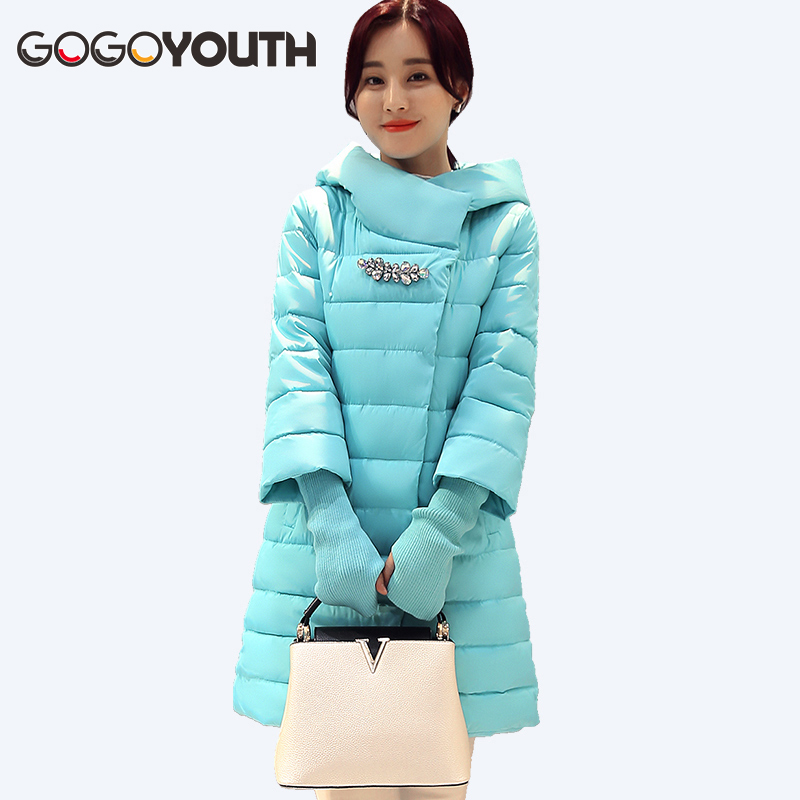 Cotton Padded Long Winter Jacket Women's Parkas 2017 Fashion Thick Warm Hooded Cheap Female Jacket Winter Coat Women Snow Coat
