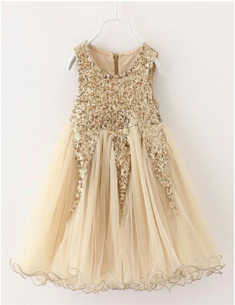 Online Get Cheap Flower Girl Dresses Gold -Aliexpress.com ...