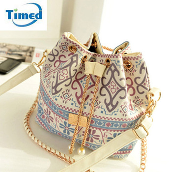 Ladies Bucket Bag New Chains Shoulder Bag