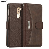 For Huawei Honor 6X Case Luxury PU Leather Wallet Flip Cover Dirt Resistant Phone Bags Cases