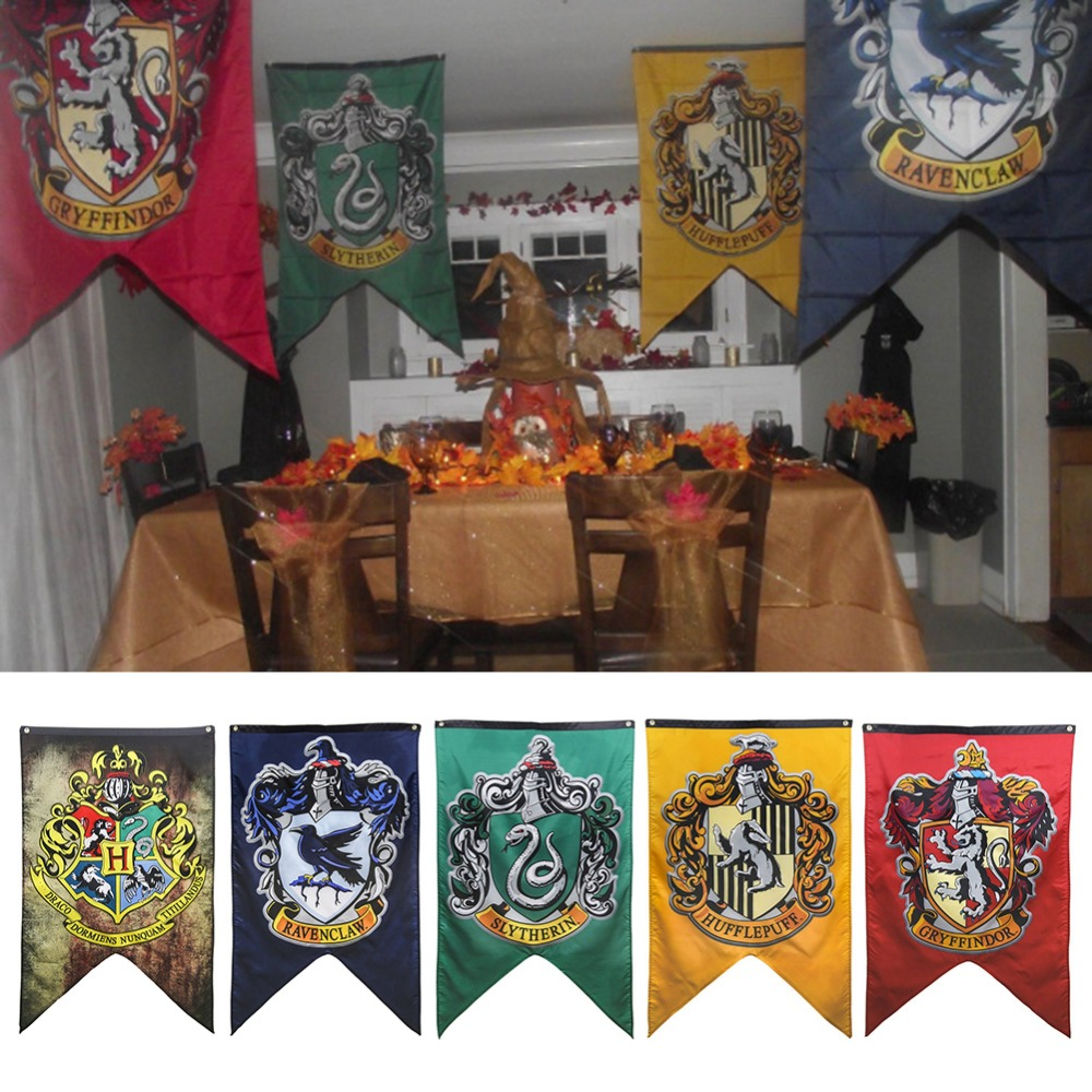 70x125cm Harry Potter College Flag Banners Boys Girls Kids Halloween Decoration Christmas Gift Birthday Party DIY