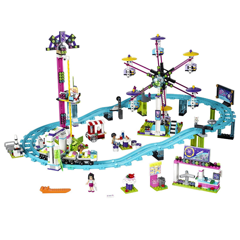 Girls Friends 1124pcs Building Blocks Toys Bricks Set Amusement Park Roller Coaster Kids Toy Girl Gifts Compatible Legoe купить
