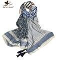 Стильный геометрические печать чехия длинные шарфы all-матч старинные лоскутное полосой платки лето и осень свободного покроя марка bufandas