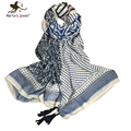 Stylish geometric print Bohemia long scarves all-match vintage patchwork stripe shawls summer and autumn casual brand bufandas