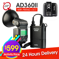 Godox Witstro AD360II C 360W GN80 TTL Flash Light PB 960 Battery Pack For Canon DSLR