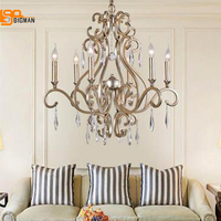 Europen style iron chandelier crystal lamps lustre foyer chandeliers ,3 lights/6 lights/8 lights home lighting