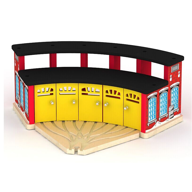 Thomas and Friends -- Thomas Wooden Train Track Railway Accessories --Big Train Station Train Rest Room