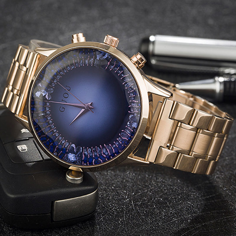 цены  New 2017 Luxury Rhinestone Women Watch Bracelet Wristwatches Lady Dress Watch Clock Quartz Relogio Steel Reloj Rose Gold Watches
