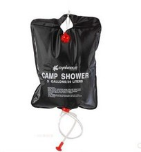 Hot !20L Outdoor Solar Shower Bag Camping Shower Bladder Water Bag Package Color Box Free Shipping