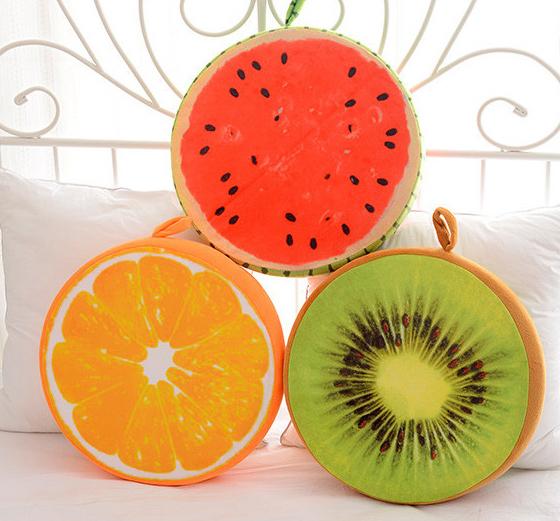 Início Decoração do Quarto Crianças Estilo Bonito de Frutas Almofada Do Sofá Sentado Descanso de Lance