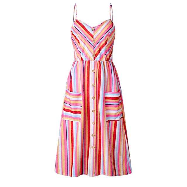 Women'S Summer Stripe Strap...