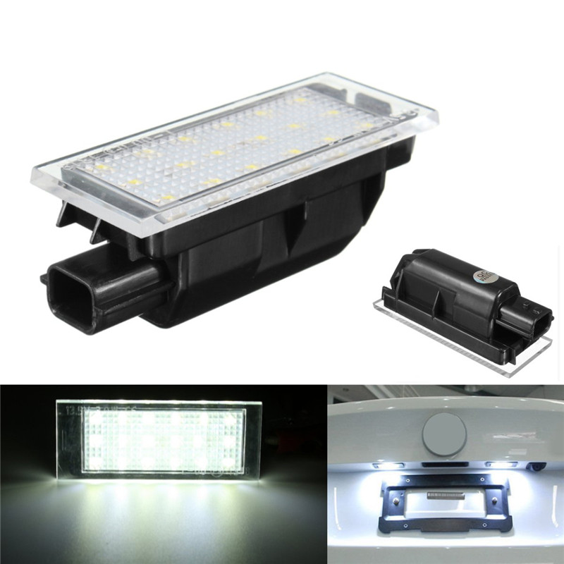 1Pcs Error Free 18SMD Car LED License Plate Lights Number Plate Lamp For Renault Clio Laa Megane Master Traffic direct fit for kia sportage 11 15 led number license plate light lamps 18 smd high quality canbus no error car lights lamp page 1