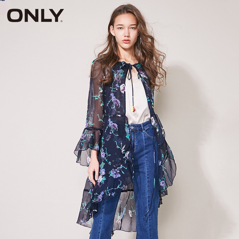 ONLY Women 39 s Spring amp Summer 2019 Ruffled Floral Chiffon Shirt 118104501 in Blouses amp Shirts from Women 39 s Clothing