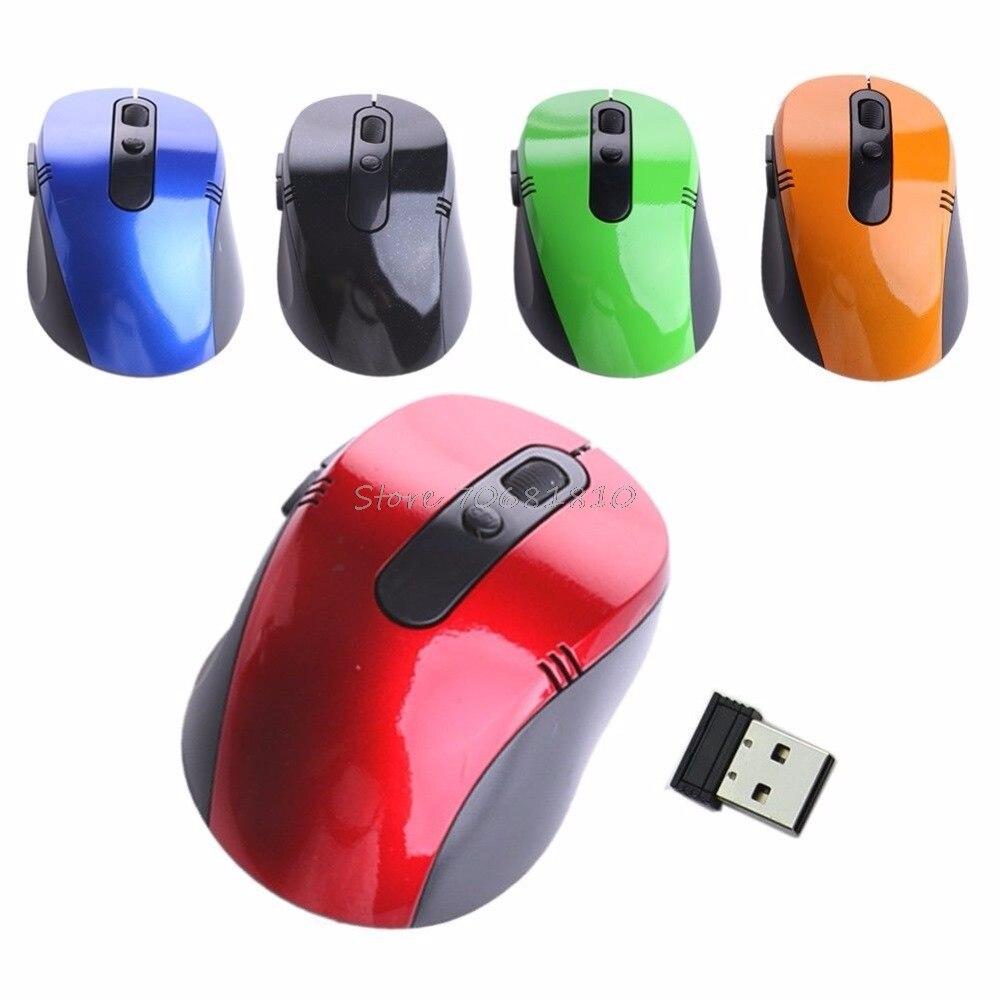 2.4 г USB Беспроводной оптический Мышь Мыши компьютерные Nano приемник для win vista портативных ПК Прямая доставка