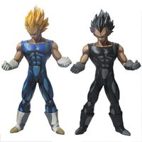 2style Anime Dragon Ball Z Vegeta Super Saiyan Manga Chocolate Color Version PVC Action Figure Toys 26CM