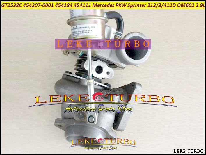 GT2538C 454207-5001S 454207 454184 454111 6020960899 Turbo For Mercede Benz PKW Sprinter 212 312D 412D 210D 310D 410D OM602 2.9L