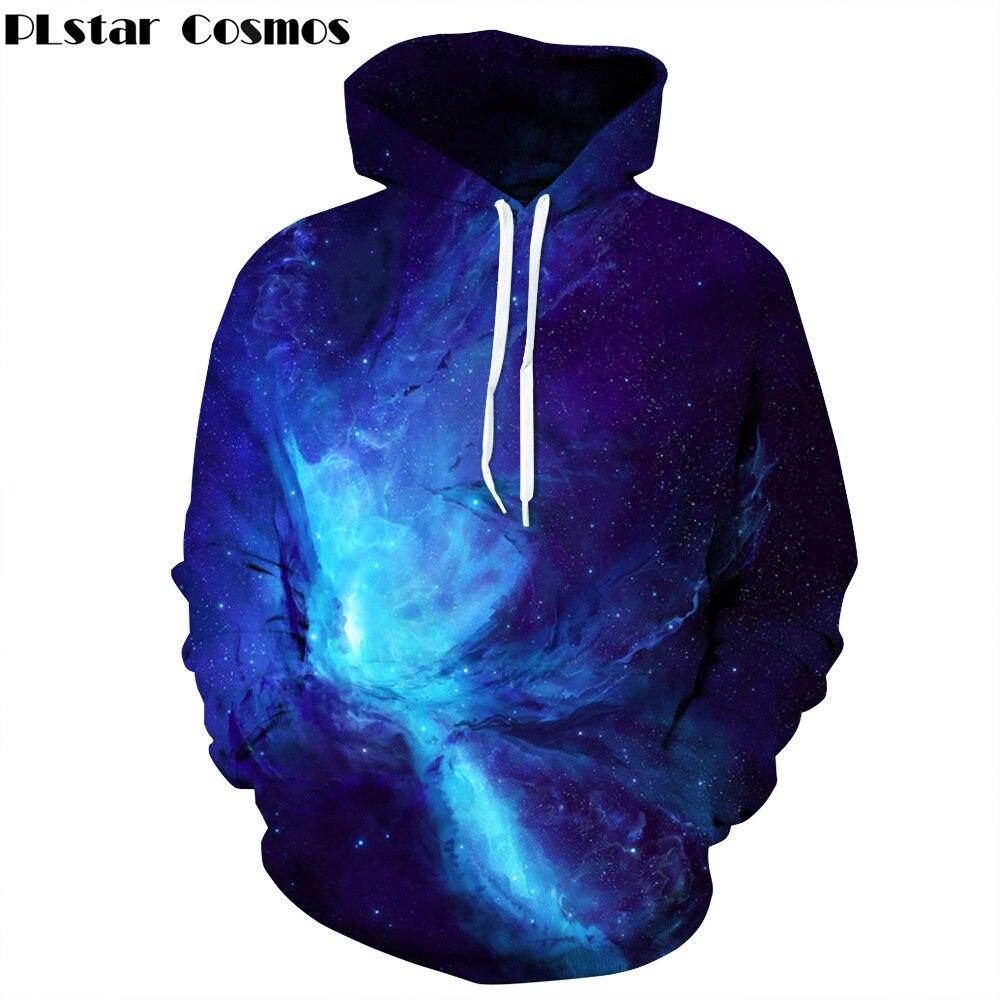 PLstar Cosmos Brand clothing Space Galaxy 3D Hoodies Men/Women Sweatshirt Hooded Cap Hoody Print Paisley Nebula Jacket