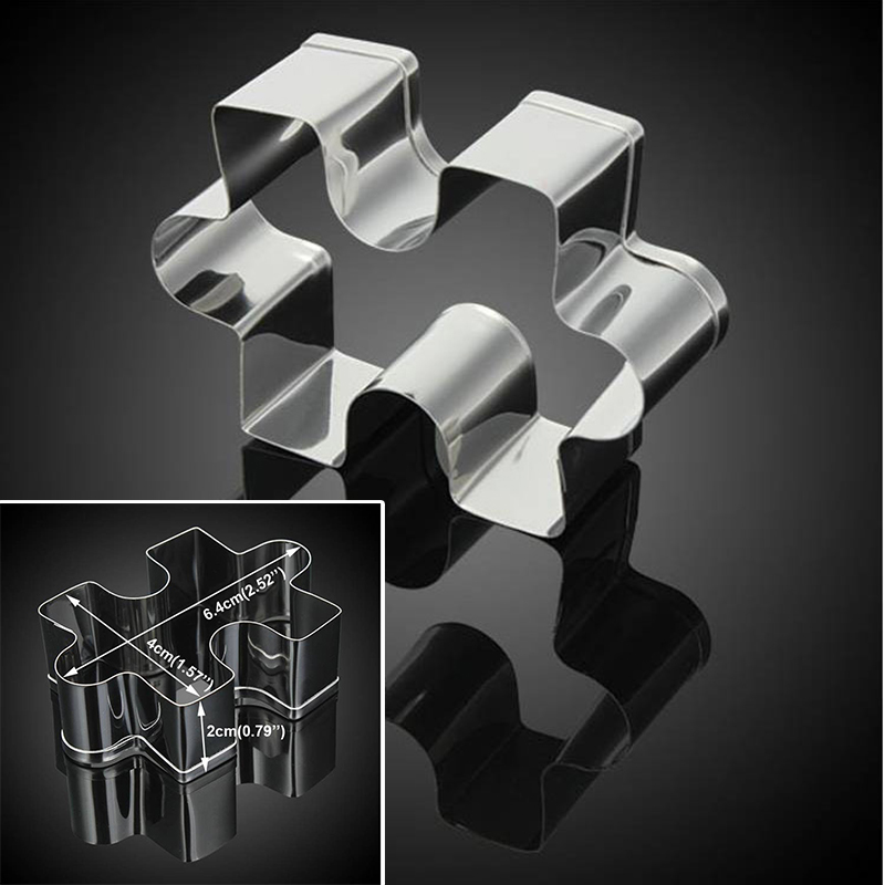 Puzzle Model Fondant Cookie Mold Biscuit Cutter Cake Decor Tool Stainless Steel in Cookie Tools from Home Garden