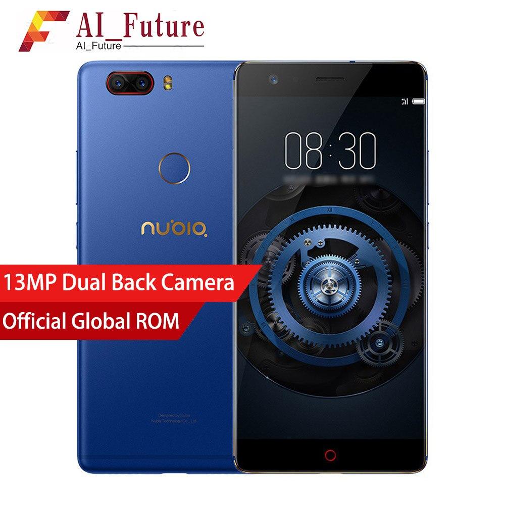 Mondiale Nubia Z17 Lite Android 7.1 6 gb RAM 64 ROM Mobile Téléphone Snapdragon 653 5.5 pouce Double Arrière Caméra 4g LTE Smartphone