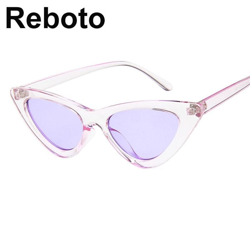 cat eye shade for women fashion sunglasses brand woman vintage retro triangular cateye glasses oculos feminino sunglasses Sexy 6