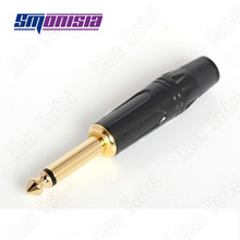 Smonisia 10pcs-100pcs for Jicheng 6.35 Microphone Plug Amphenol Type 6.5 Guitar And Mixing Console Connector