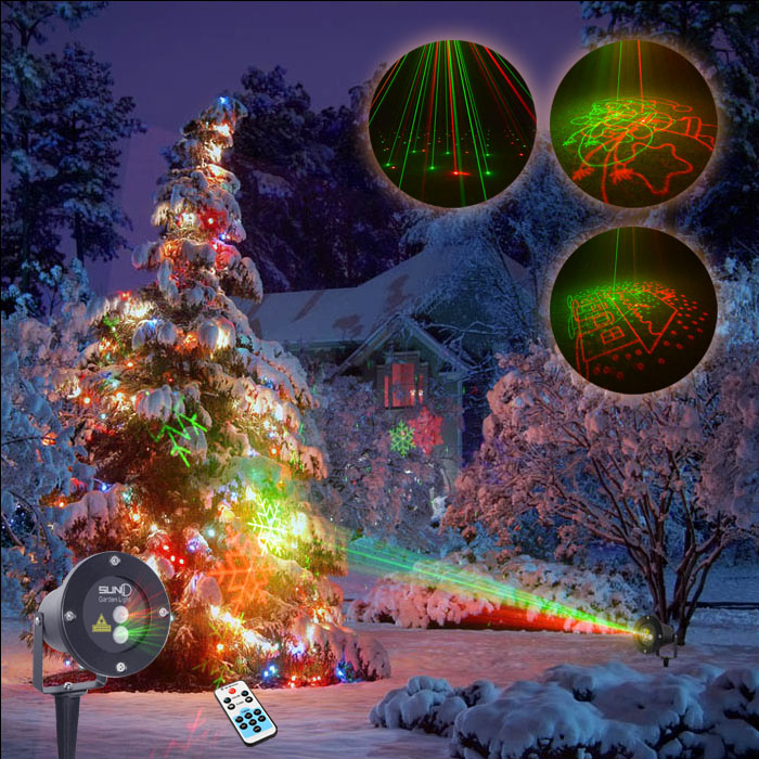 SUNY RG Christmas 8 Pattern Laser Projector Outdoor ...