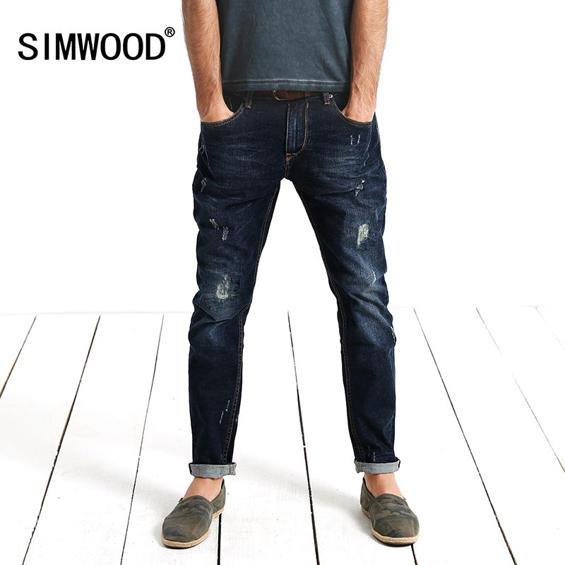 SIMWOOD High Quality Famous Brand 2017 Vintage Mens Jeans Casual Zipper Denim Pants Man Trousers Plus Size Free Shipping SJ593 2017 new arrival italy famous brand men s fashion jeans high quality size 30 40 blue vintage jeans pants