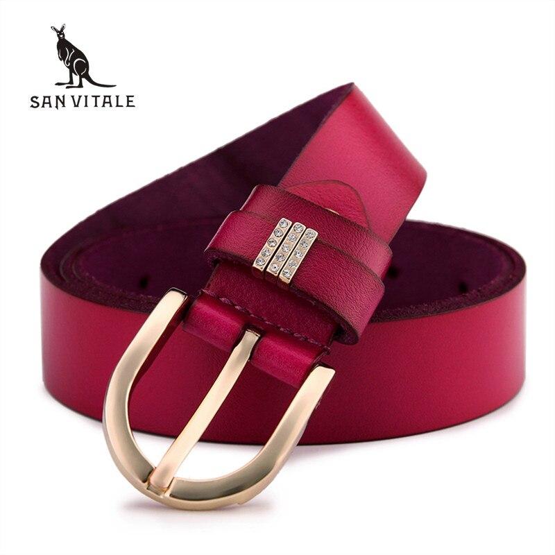 New 2017 Fashion Belts Woman Vintage Embossed cowskin real Leather Women Belts Brand Leisure Designer Female Belts free shipping
