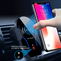 10W Fast Charging Car Infrared Sensor For iPhone XS X XR 8 Wireless Charging Mobile Phone Holder Car Phone Charger Bracket