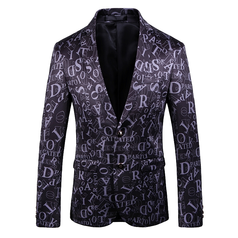 2019 Autumn Designer Men Clothing Luxury Designer Mens Blazer Letter Print Jacket Chaqueta Hombre Formal Males Suits Blazers