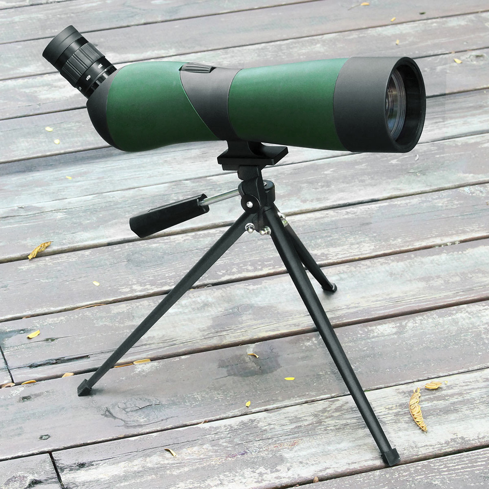 цена LAIDA 60mm Spotting Scope Multi-Coated Optics 20x-60x Birdwatching Monocular Zoom View Target Mirror Refractor 45 Degree M0086A