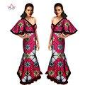 África bazin 2017 summer dress decote em v profundo sexy dress off ombro africano dashiki imprimir envoltório maxi dress maxi dress wy759 6xl
