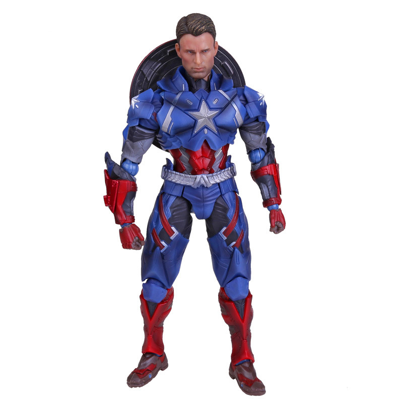 ФОТО Crazy Toys Civil War Captain America PVC Action Figure Collectible Toy 10