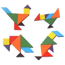Wooden 7-Piece Tangram Puzzle Toy for Kids