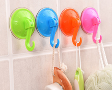 Zeegle Plastic Vacuum Chuck Kitchen Wall Hanger Double Suction Cup Towel Hanger font b Rack b