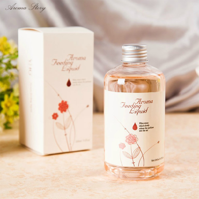 260 ml Repositor Óleo Da Fragrância Casa Rattan Reed Difusor Quarto Perfume Suplemento de Aroma de Óleo Essencial de Lavanda Oceano Lírio, etc