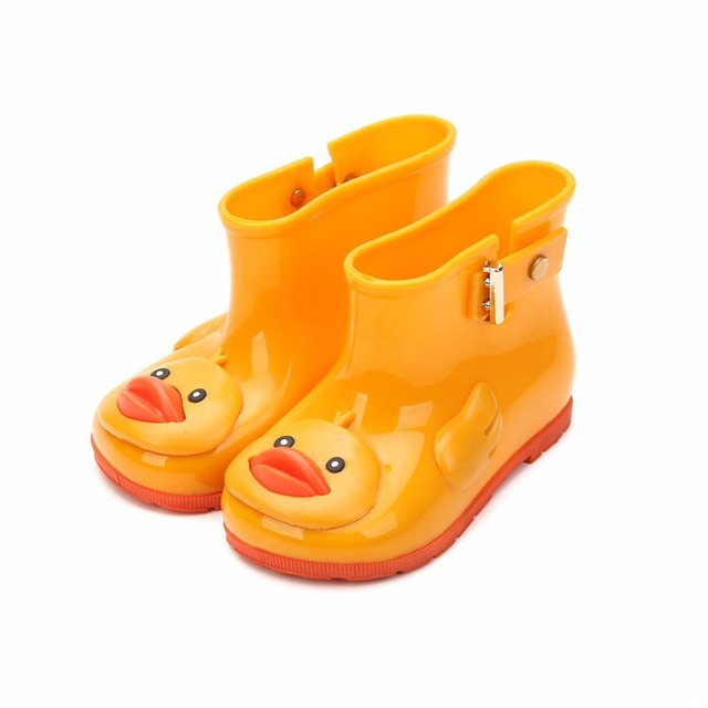 Duck Boots For Girls 2018 New Children s Rain Boots Bow Boots Shoes  Non-slip Shoes Girls Water Shoes 6 Color cd4cd9aaaa46