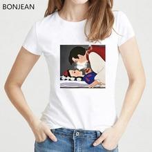 Snow White kiss tshirt summer Harajuku shirt vogue Spoof Princess funny t shirts Women clothes 2019 tops female punk t-shirt