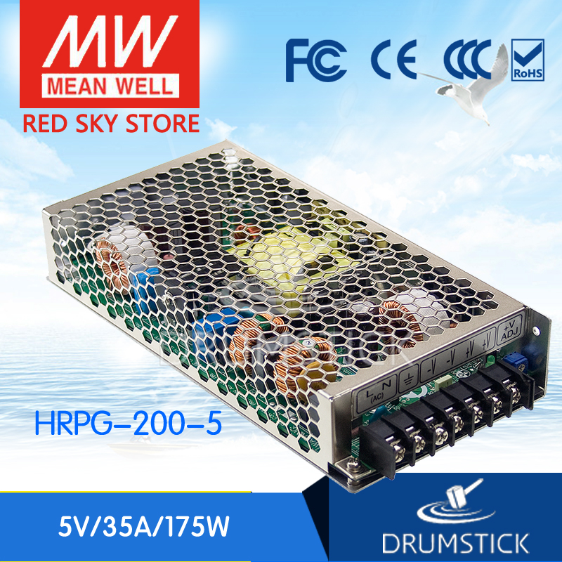 MEAN WELL HRPG-200-5 5V 35A meanwell HRPG-200 5V 175W Single Output with PFC Function Power Supply [Real1] advantages mean well hrpg 200 24 24v 8 4a meanwell hrpg 200 24v 201 6w single output with pfc function power supply [real1]