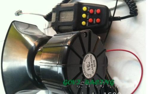 Sirena de Tono alto bocina de aire del coche auto de aire de la motocicleta mini 7 sirena 12 V 60 W 115 db de sonido clacson mini-car styling 4x6 altavoces