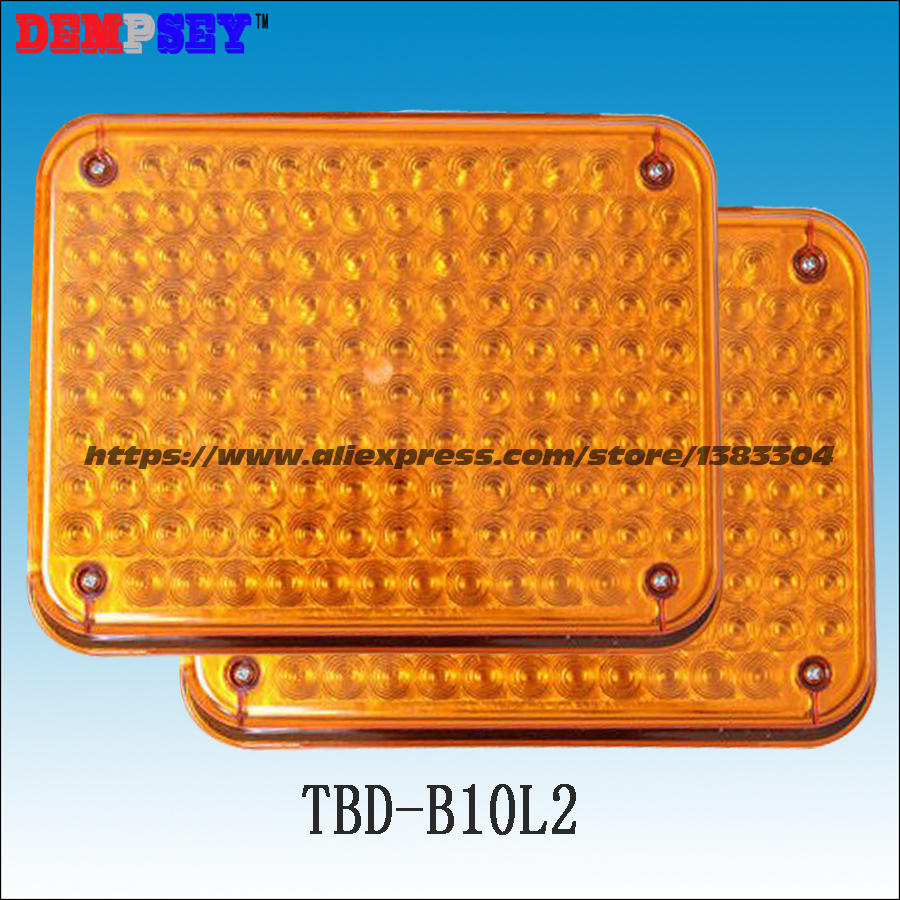 TBD-B10L2 High quality Amber warning lights for fire truck/car emergency lights, surface mounting, Waterproof, DC12V or 24V a975got tbd b