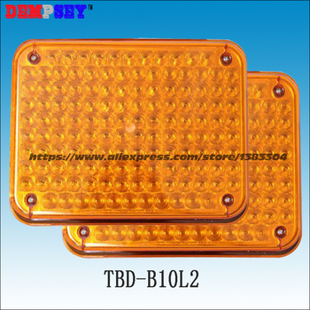 TBD-B10L2 High quality Amber warning lights for fire truck/car emergency lights, surface mounting, Waterproof, DC12V or 24V