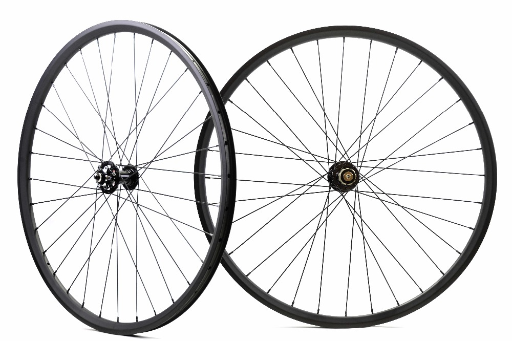 Asymmetric 29ER MTB XC hookless carbon wheels Tubeless ready 27mm width 23mm depth mountain bike carbon wheelset boost ready oem mtb wheelset 29er mtb wheelset mountain bike 27mm width carbon wheel hookless mtb wheels with novatec hub