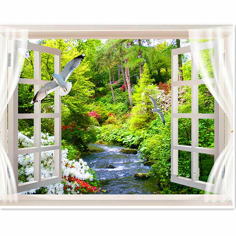 DIY Алмазная картина голубь лесной ручей пейзаж полный Алмазная вышивка набор Алмазная мозаика, стразы для окна домашний декор