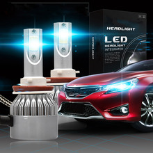 2PCS/Set High Quality D1S D2S H4 H1 H3 H7 H11 9005/HB3 110W 20000LM 6000K White Car LED Headlight Kit Fog Light Headlight Bulbs 110w set 9200lm car led headlight truck head lamp conversion kit 9005 hb3 6000k white bulbs single beam replace halogen hid kit