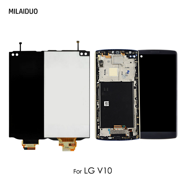 For LG V10 H960 H900 VS990 LCD Display With Touch Screen Digitizer Assembly Replacement Parts No Frame Original 5.7 Inch Black