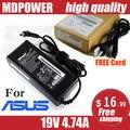 MDPOWER Для ASUS N71 N73 N73X N73Y ноутбук ноутбук блок питания ПЕРЕМЕННОГО тока зарядное шнур 19 В 4.74A