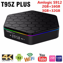 Original T95Z Plus Smart TV BOX 2GB/16GB 3GB/32GB Amlogic S912 Octa Core Android 7.1 TVBOX 2.4G/5GHz WiFi BT4.0 4K Set Top Box 3gb 32gb android tv box tx9 pro amlogic s912 android 7 1 smart tv octa core 2 4g