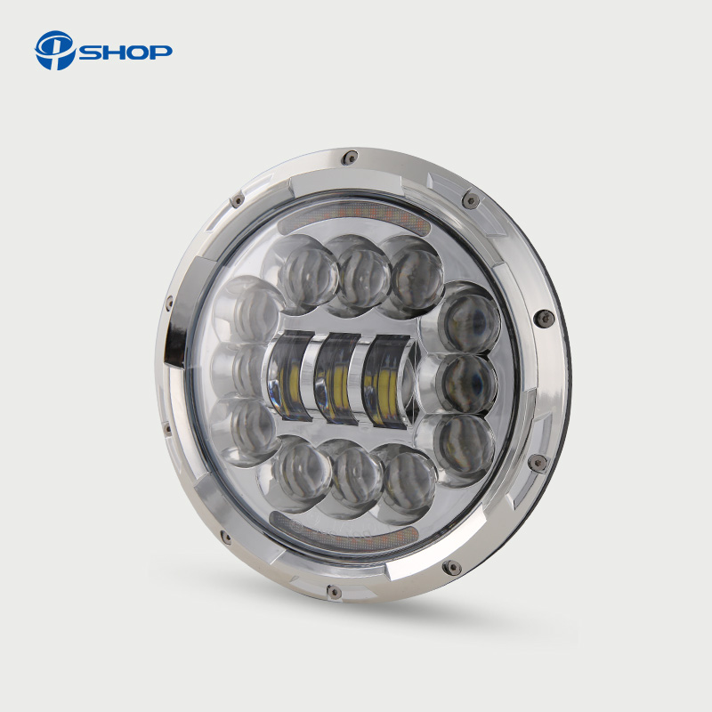 7 Offroad Projector Series 7Round LED Headlights White DRL Amber Turning Signal Lights For Jeep Wrangler JK TJ CJ 90W амортизаторы bilstein в6 offroad